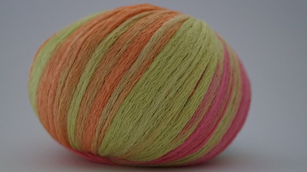 Aresis: Farbe 10 orange-pink-kiwi - 50g