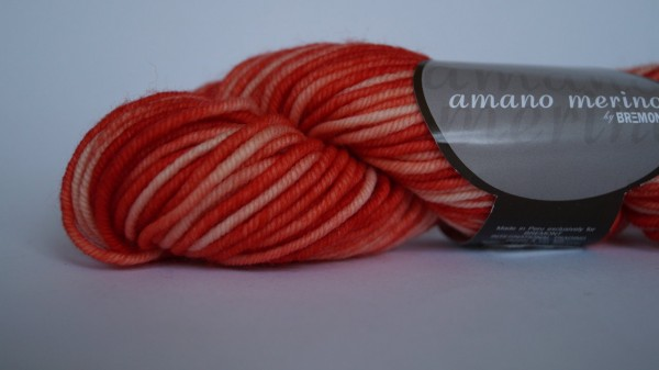 Amano merino: Farbe 704 orange - 50g